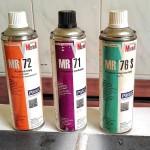 Zestaw stosowanych preparatów firmy MR Chemie GmbH.